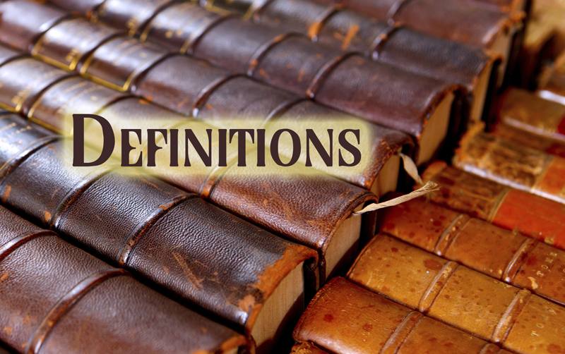 "Books and the word ""Definitions"""